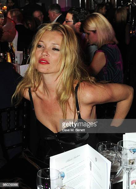 Kate Moss attends the Mummy Rocks party in aid of the Great Ormond Street Hospital Children's Charity at the Bloomsbury Ballroom on March 24 2010 in...