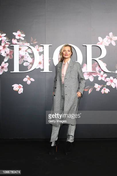 Kate Moss attends the photocall at the Dior Pre Fall 2019 Men's Collection on November 30 2018 in Tokyo Japan