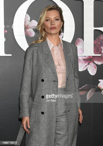 Kate Moss attends the photocall for Dior PreFall 2019 Men's Collection at Telecom Center on November 30 2018 in Tokyo Japan