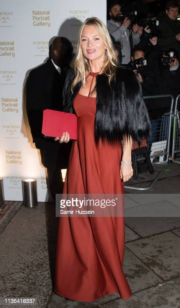 Kate Moss attends the Portrait Gala 2019 at the National Portrait Gallery on March 12, 2019 in London, England.