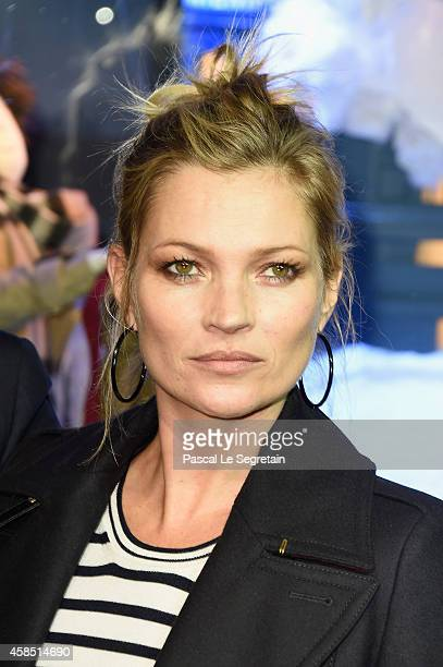 Kate Moss attends the Printemps Christmas Decorations Inauguration at Le Printemps on November 6 2014 in Paris France