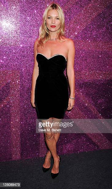 Kate Moss attends the Rimmel & Kate Moss Party to celebrate their 10 year partnership at Battersea Power station on September 15, 2011 in London,...