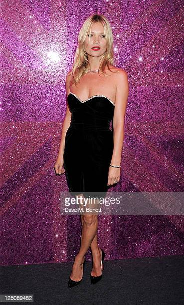 Kate Moss attends the Rimmel Kate Moss Party to celebrate their 10 year partnership at Battersea Power station on September 15 2011 in London England...