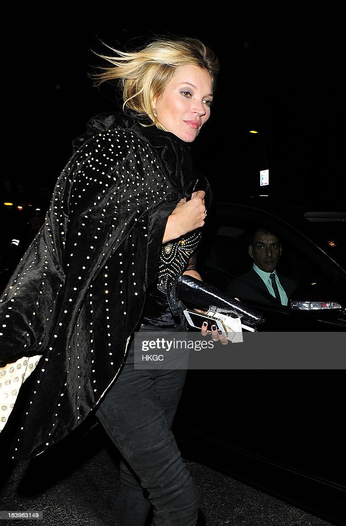 Kate Moss attends the Rimmel London 180 Years of Cool party at The London Film Museum on October 10, 2013 in London, England.