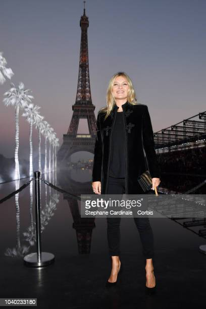 Kate Moss attends the Saint Laurent show as part of the Paris Fashion Week Womenswear Spring/Summer 2019 on September 25 2018 in Paris France