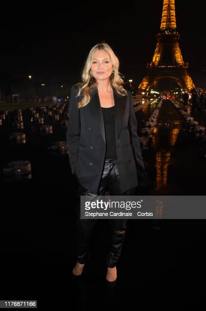 Kate Moss attends the Saint Laurent Womenswear Spring/Summer 2020 show as part of Paris Fashion Week on September 24, 2019 in Paris, France.