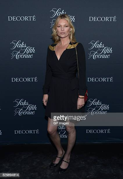 Kate Moss attends the Saks Fifth Avenue celebrates the exclusive launch of Decorte Beauty with Kate Moss at Integral House on May 9, 2016 in Toronto,...