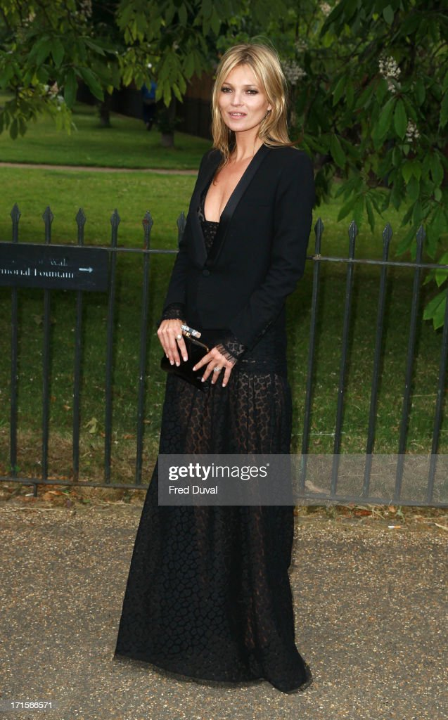 Kate Moss attends The Serpentine Gallery Summer Party at The Serpentine Gallery on June 26, 2013 in London, England.