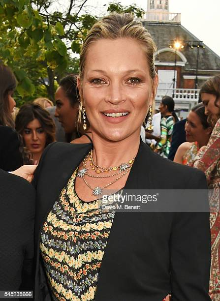 Kate Moss attends The Serpentine Summer Party cohosted by Tommy Hilfiger on July 6 2016 in London England