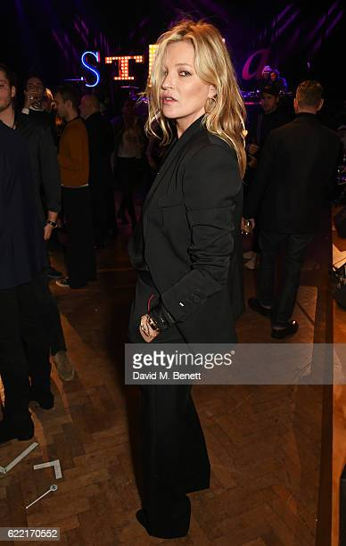 Kate Moss attends the Stella McCartney Menswear launch and Women's Spring 2017 collection presentation at Abbey Road Studios on November 10 2016 in...