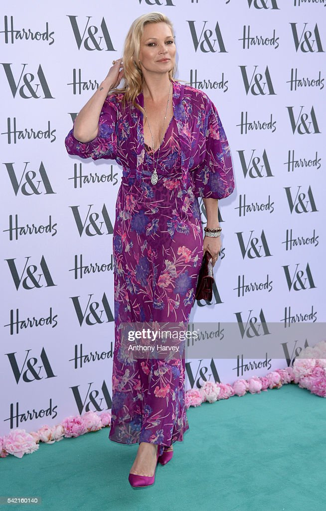 Kate Moss attends the V&A Summer Party at Victoria and Albert Museum on June 22, 2016 in London, England.