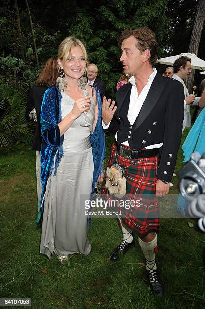 Kate Moss attends the wedding reception of Leah Wood and Jack MacDonald at Holm Wood on June 21 2008 in London England