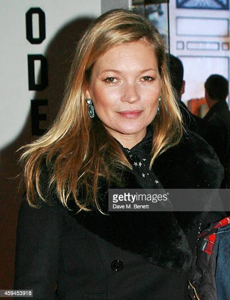 Kate Moss attends the World Premiere of 'Paddington' at Odeon Leicester Square on November 23 2014 in London England