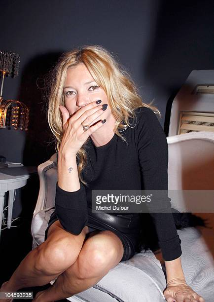 Kate Moss backstage at the Christian Dior Ready to Wear Spring/Summer 2011 show during Paris Fashion Week at Espace Ephemere Tuileries on October 1...