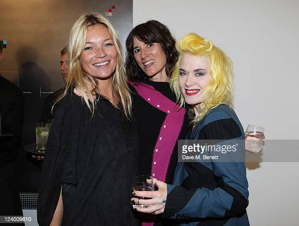 Kate Moss Bella Freud and Pam Hogg attend the debut screening of a short film collaboration between Bella Freud and director Martina Amati at Max...