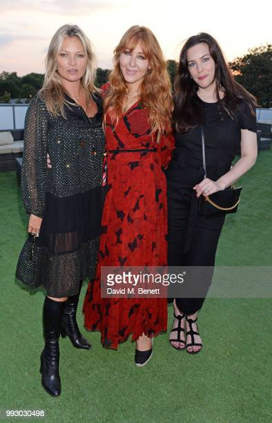 Kate Moss Charlotte Tilbury and Liv Tyler attend the London launch of intothewhite Darren Strowger's ambitious new tech platform raising money for...