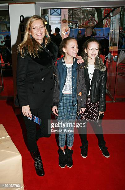 Kate Moss daughter Lila Grace Moss and guest attend the World Premiere of Paddington at Odeon Leicester Square on November 23 2014 in London England