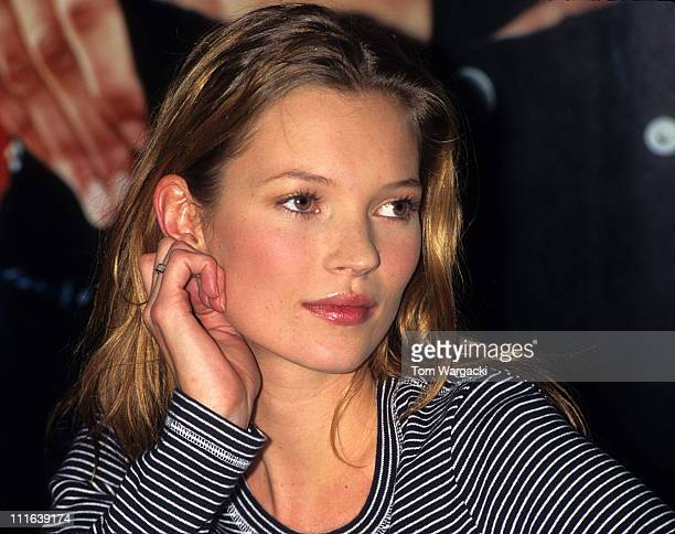 Kate Moss during Kate Moss at Macy's Department Store Promoting Calvin Klein Jeans at Macy's in New York United States