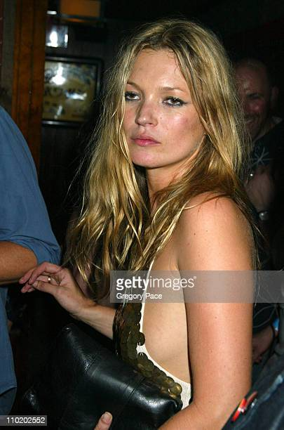 Kate Moss during Picture This Debbie Harry and Blondie by Mick Rock Book Launch Party Inside at Hiro Ballroom at The Maritime Hotel in New York City...