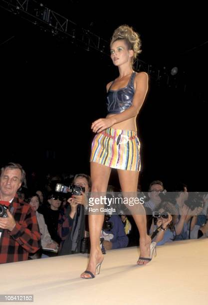 Kate Moss during Todd Oldham Fashion Show at Bryant Park in New York City New York United States