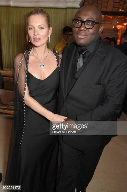 Kate Moss Edward Enninful attend as Tiffany Co partners with British Vogue Edward Enninful Steve McQueen Kate Moss and Naomi Campbell to celebrate...