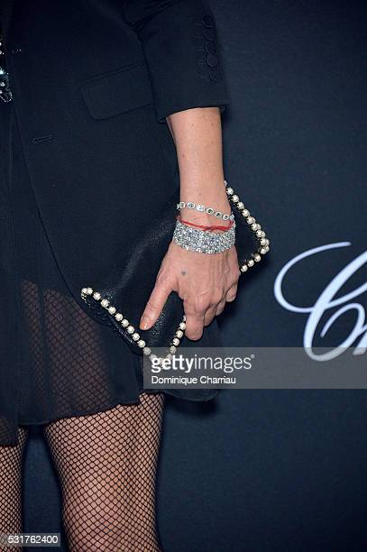 Kate Moss fashion detail attends the Chopard Party at Port Canto during the 69th annual Cannes Film Festival on May 16 2016 in Cannes France