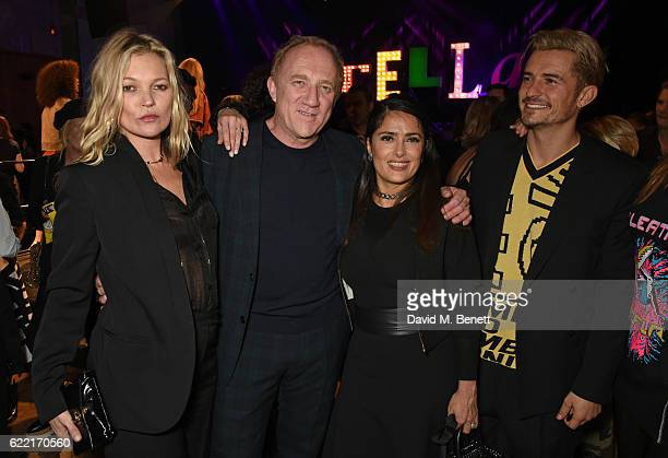 Kate Moss FrancoisHenri Pinault Salma Hayek and Orlando Bloom attend the Stella McCartney Menswear launch and Women's Spring 2017 collection...