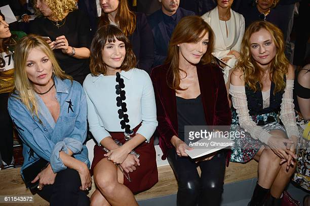 Kate Moss Gemma Arterton Carla Burni and Diane Kruger attend the Christian Dior show as part of the Paris Fashion Week Womenswear Spring/Summer 2017...