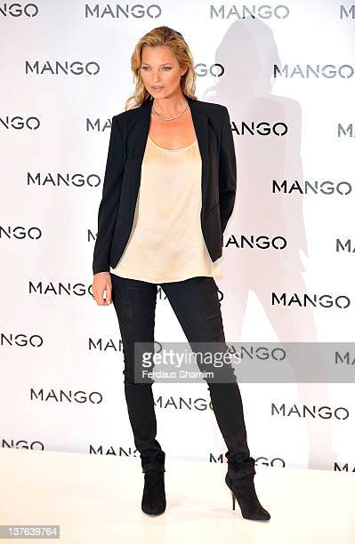 Kate Moss is announced as the new face of the fashion brand MANGO at Boutique MANGO on January 24 2012 in London England
