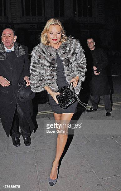 Kate Moss is seen arriving at a restaurant on January 20 2011 in London United Kingdom