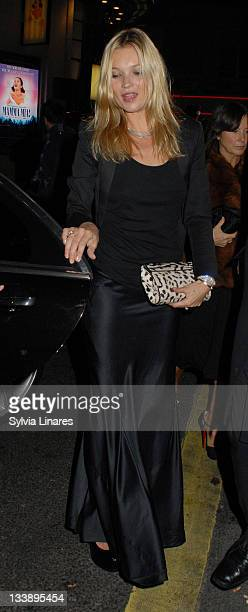 Kate Moss is seen at Cafe of Paris Club on November 21, 2011 in London, England.