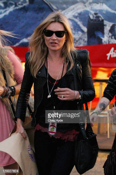 Kate Moss is seen backstage on day one of the Splendour in the Grass music festival on July 29 2011 in Woodford Australia