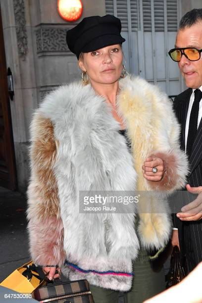 Kate Moss is seen during the Paris Fashion Week Womenswear Fall/Winter 2017/2018 on March 3 2017 in Paris France