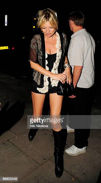 Kate Moss is seen in North London on July 2 2009 in London England