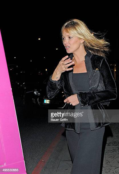 Kate Moss is seen on February 05 2013 in London United Kingdom