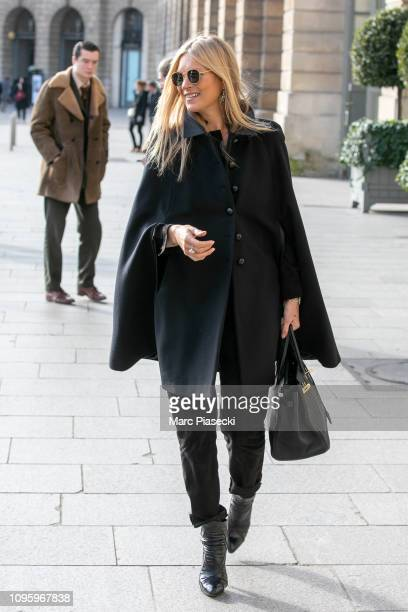 Kate Moss is seen on January 18 2019 in Paris France