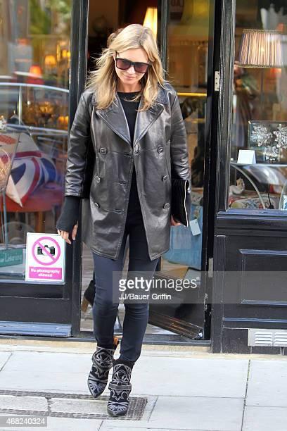 Kate Moss is seen on September 27 2012 in London United Kingdom