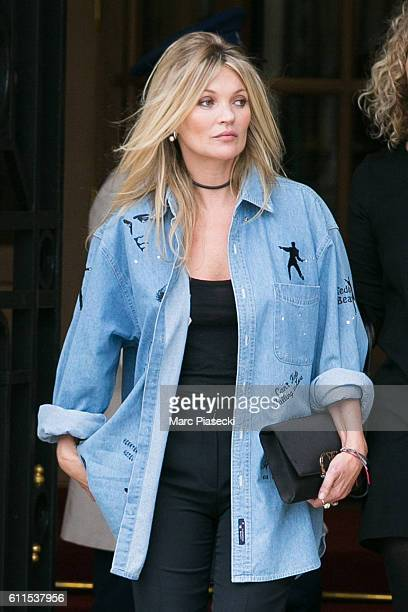 Kate Moss is seen on September 30 2016 in Paris France
