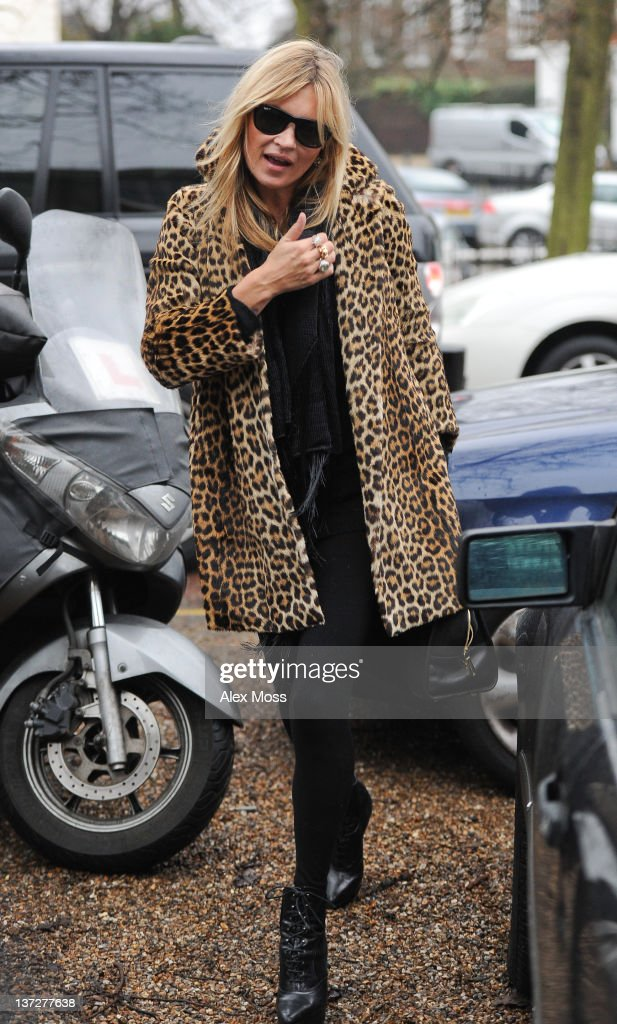 Kate Moss is sighted in North London on January 18, 2012 in London, England.
