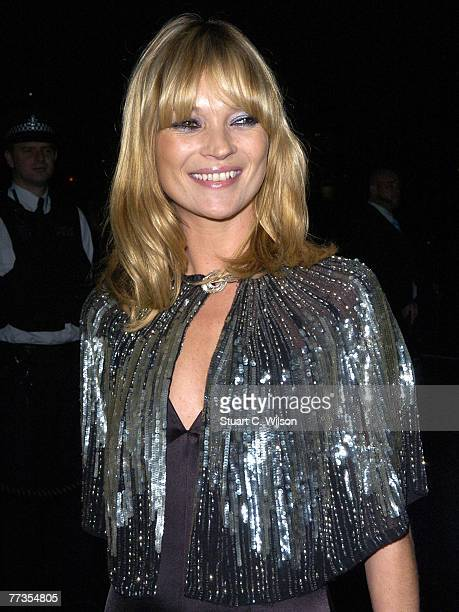 Kate Moss launches her new Top Shop 'Christmas Range' collection at Annabel's on October 16 2007 in London England
