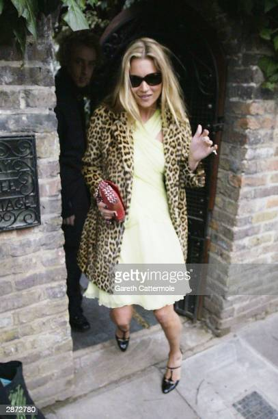 Kate Moss leaves her West London home on her 30th birthday today January 16 2004 in London It has been rumoured that she would be celebrating her...