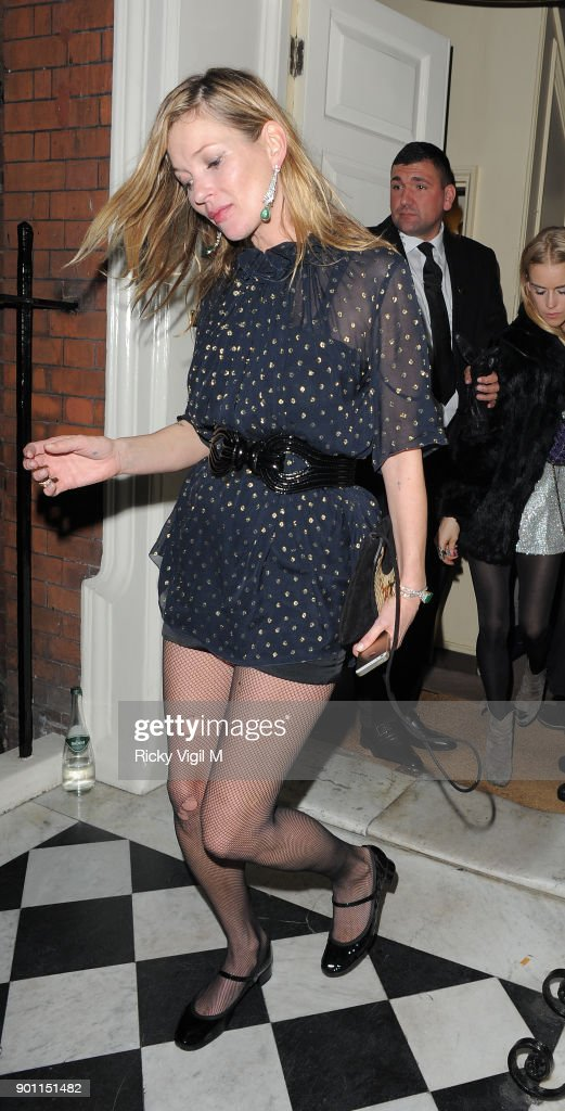 Kate Moss Leaves Marks Club After The Alistair Mackie Another Man