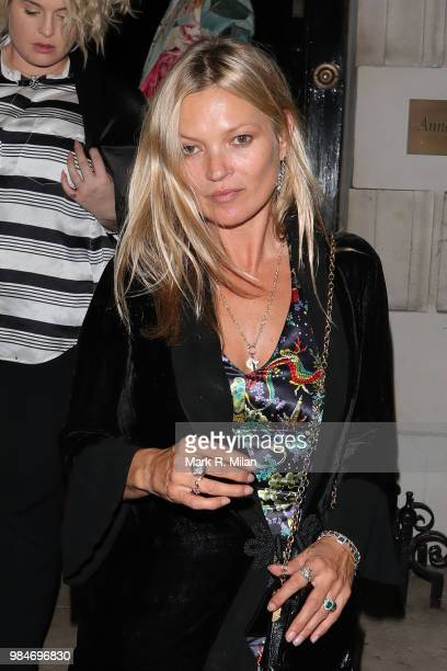 Kate Moss leaving Annabel's club on June 26 2018 in London England