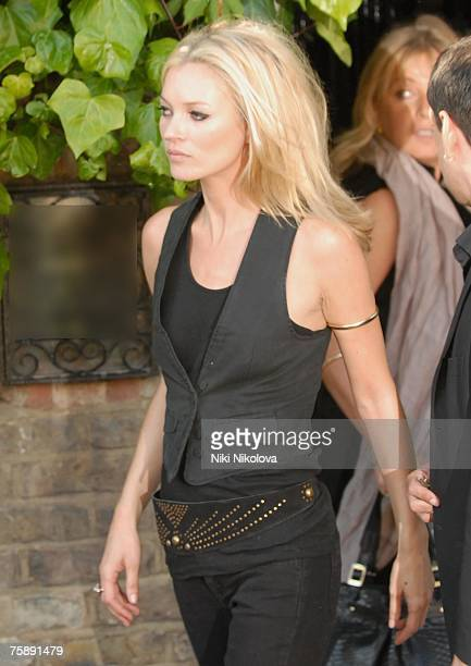 Kate Moss leaving her house in London to launch her collection in Topshop