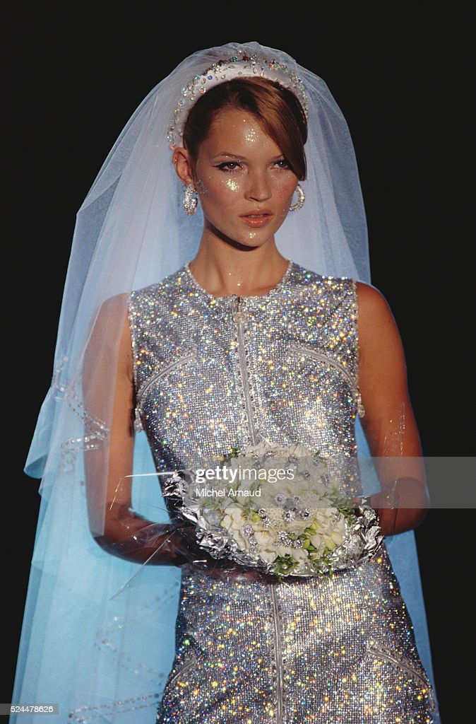 Kate Moss Modeling Versace Wedding Dress Pictures | Getty Images