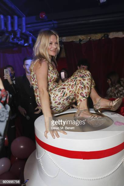 Kate Moss performs at Mert Alas' birthday party hosted by Ciroc at MNKY HSE on February 19 2018 in London England