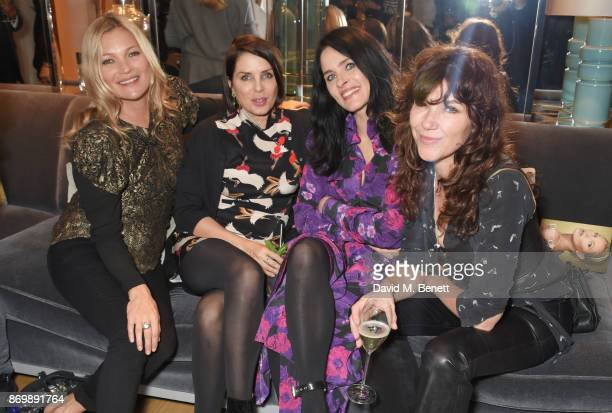 Kate Moss Sadie Frost Juliette Larthe and Jess Morris attend the launch of Decorte the Japanese luxury beauty brand with brand Ambassador Kate Moss...