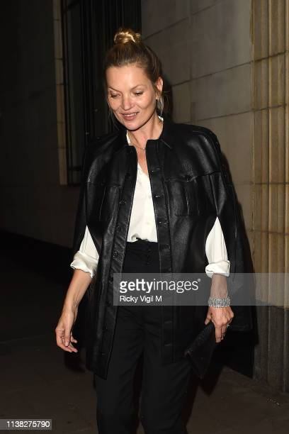 Kate Moss seen at Meg Mathews birthday party at China Tang at The Dorchester on March 25 2019 in London England