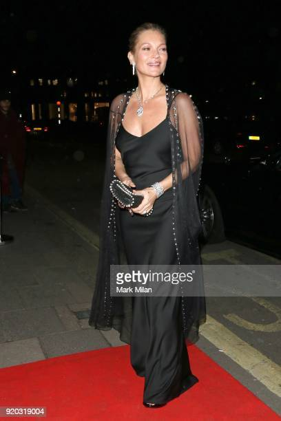 Kate Moss seen at the Vogue and Tiffany Co party at Annabel's club after attending the EE British Academy Film Awards at the Royal Albert Hall on...