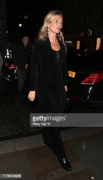 Kate Moss seen attending The Dior Sessions - book launch party at Dior Boutique on October 01, 2019 in London, England.